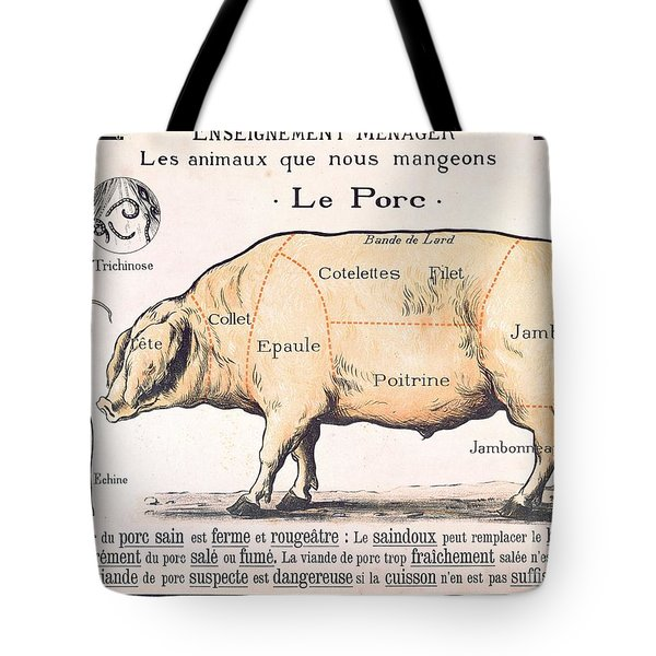 Cuts Of Pork Tote Bag by French School