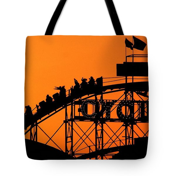 Cyclone Tote Bag by Mitch Cat