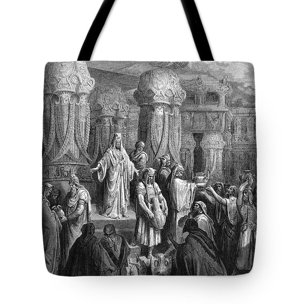 Cyrus Restoring The Vessels Tote Bag by Photo Researchers