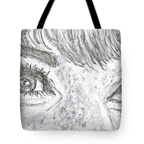 D D Eyes Tote Bag by Carol Wisniewski