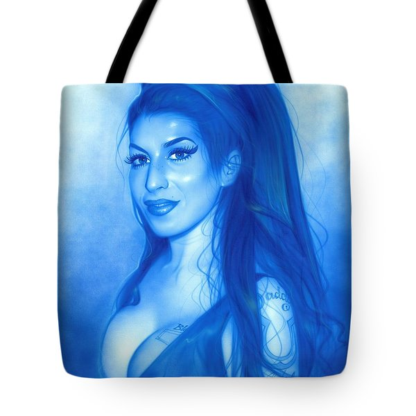Amy Winehouse - ' Daddy's Girl ' Tote Bag by Christian Chapman Art