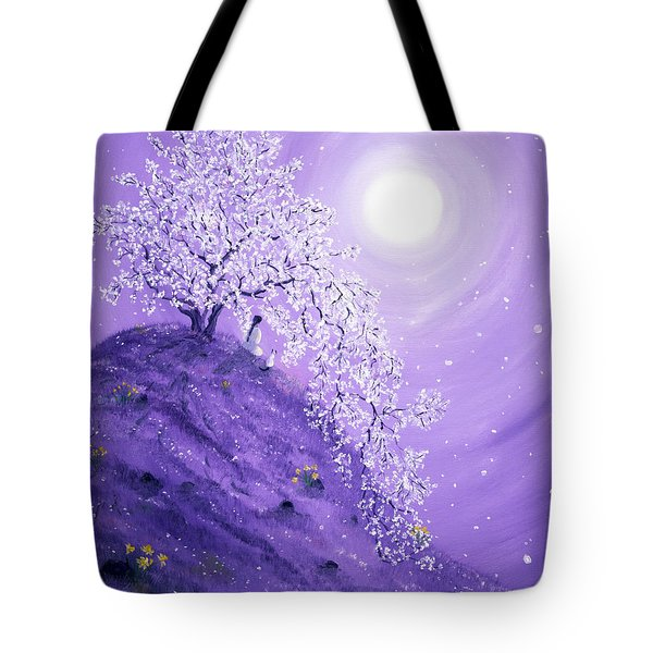 Daffodil Dawn Meditation Tote Bag by Laura Iverson