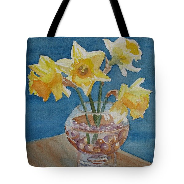Daffodils And Marbles Tote Bag by Jenny Armitage