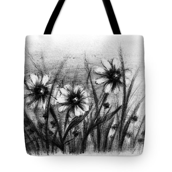 Daisies Tote Bag by Rachel Christine Nowicki