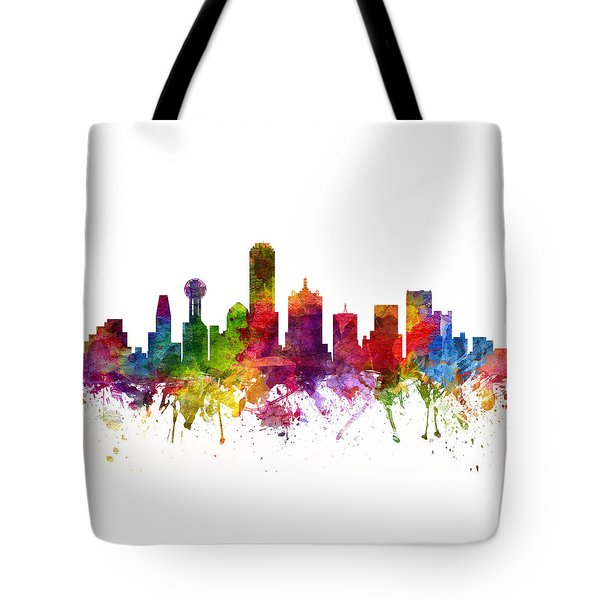Dallas Cityscape 06 Tote Bag by Aged Pixel