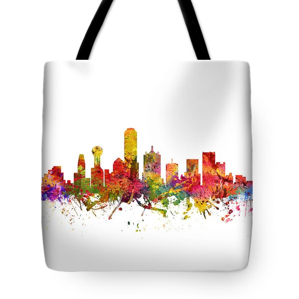 Dallas Cityscape 08 Tote Bag by Aged Pixel