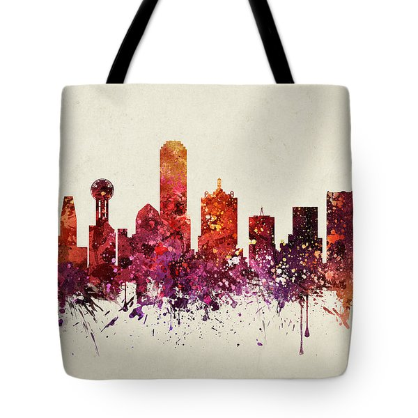 Dallas Cityscape 09 Tote Bag by Aged Pixel