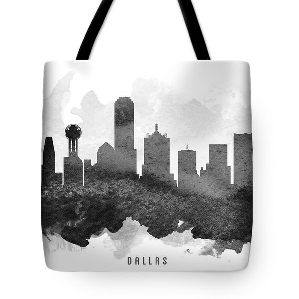 Dallas Cityscape 11 Tote Bag by Aged Pixel