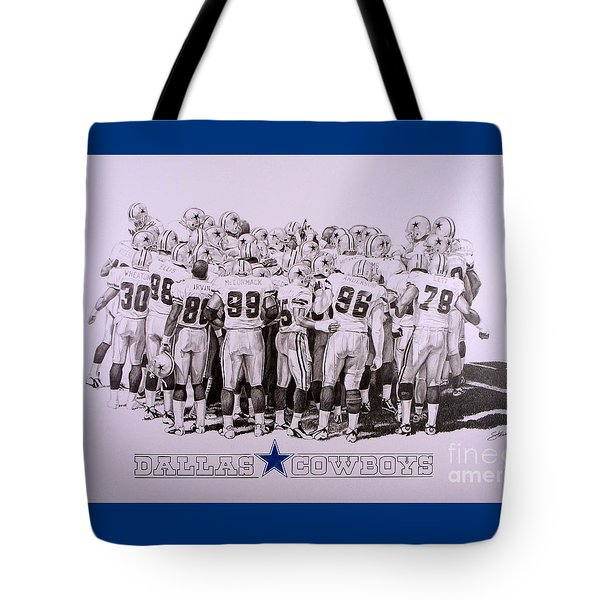 Dallas Cowboys Tote Bag by Shawn Stallings