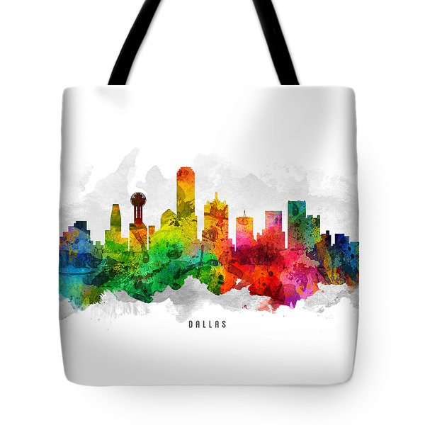 Dallas Texas Cityscape 12 Tote Bag by Aged Pixel