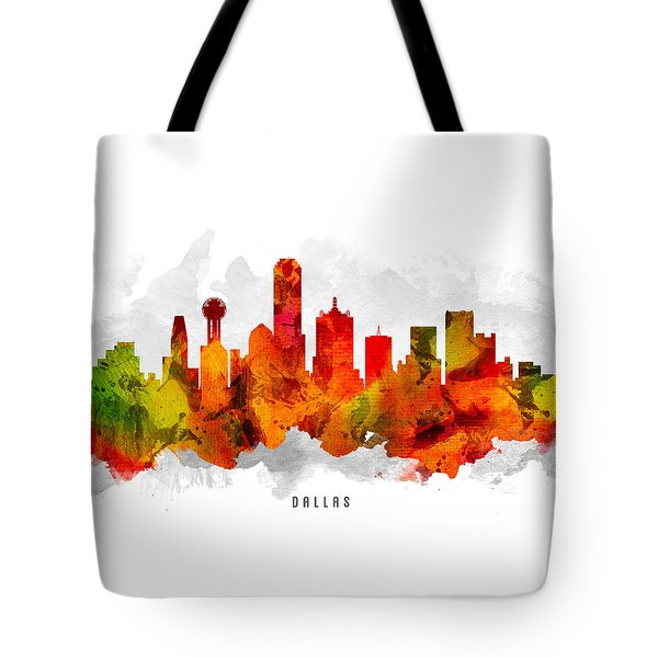 Dallas Texas Cityscape 15 Tote Bag by Aged Pixel