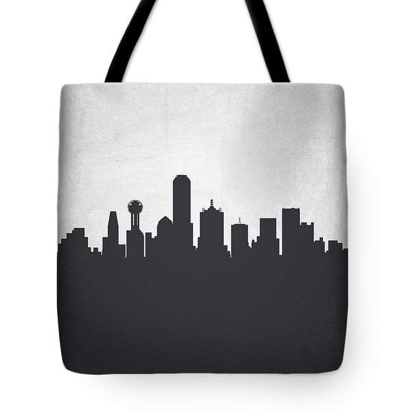 Dallas Texas Cityscape 19 Tote Bag by Aged Pixel