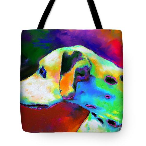 Dalmatian Dog Portrait Tote Bag by Svetlana Novikova