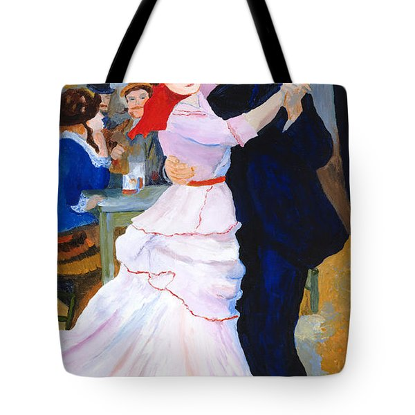 Tote Bag featuring the painting Dance At Bougival After Renoir by Rodney Campbell