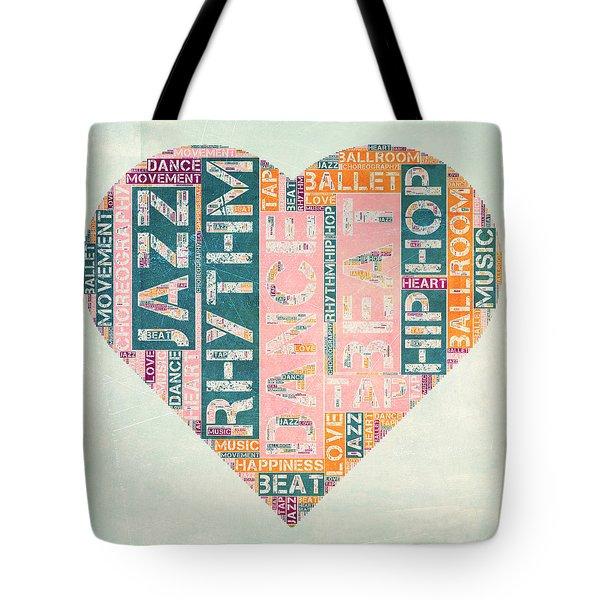 Dance Love Tote Bag by Brandi Fitzgerald