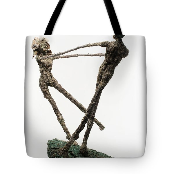 Dance On A Hill Top Back View Tote Bag by Adam Long