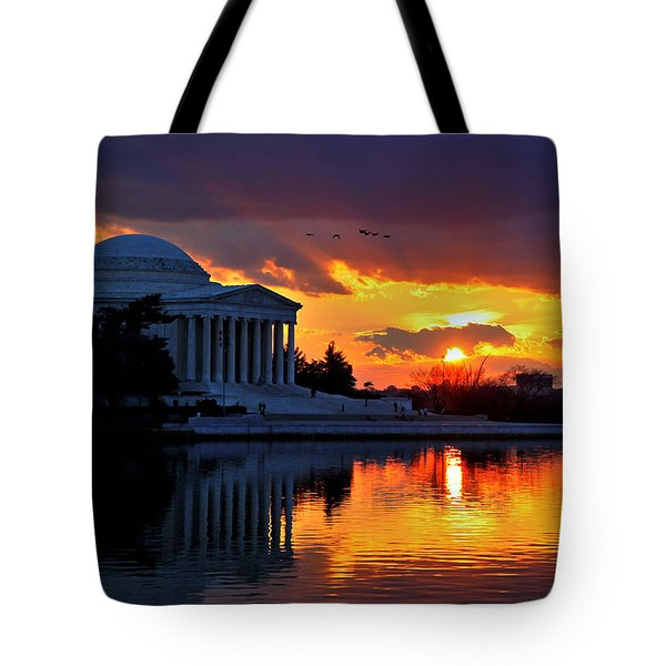 Dance The Tides Tote Bag by Mitch Cat