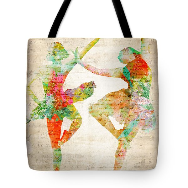 Dance With Me Tote Bag by Nikki Smith