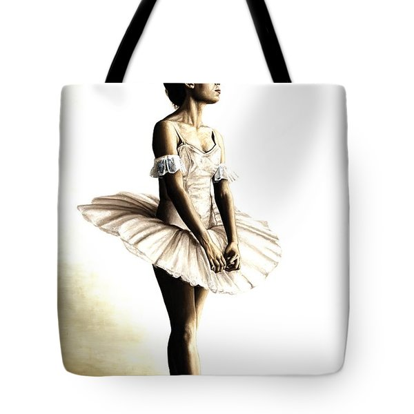 Dancer At Peace Tote Bag by Richard Young