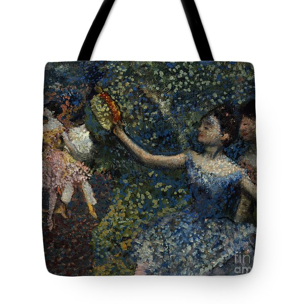 Dancer With A Tambourine Tote Bag by Edgar Degas