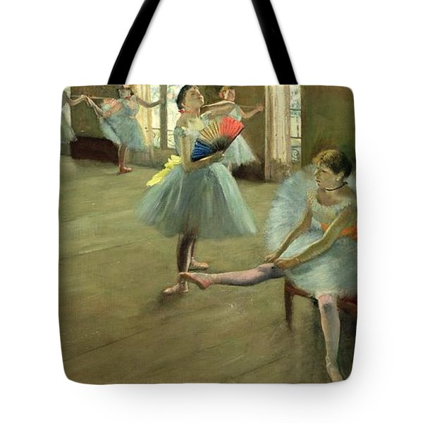Dancers In The Classroom Tote Bag by Edgar Degas