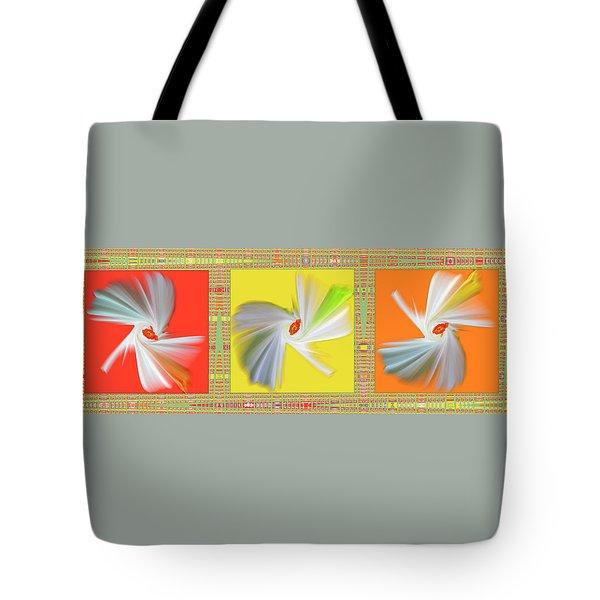 Dancing Flower Trio Tote Bag by Ben and Raisa Gertsberg