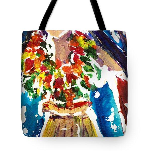 Dancing Hula Tote Bag by Julie Kerns Schaper - Printscapes