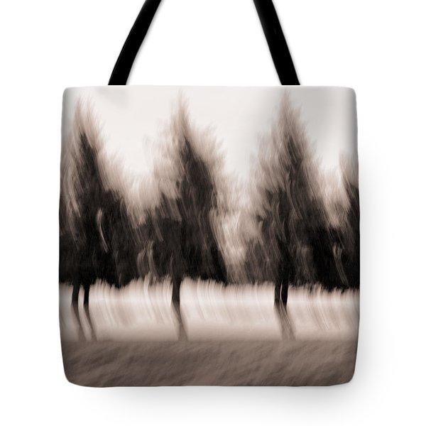 Dancing Pines Tote Bag by Carol Leigh