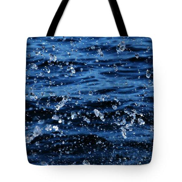 Dancing Water Tote Bag by Debbie Oppermann