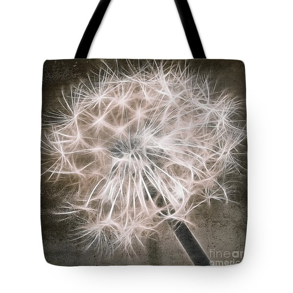 Dandelion in Brown Tote Bag by Aimelle