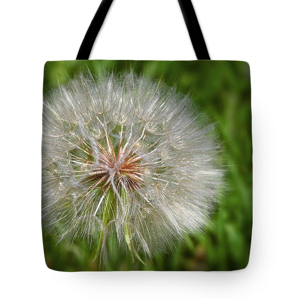 Dandelion Puff - The Summer Queen Tote Bag by Christine Till