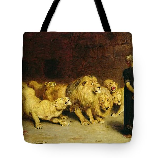 Daniel In The Lions Den Tote Bag by Briton Riviere