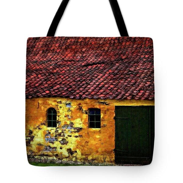 Danish Barn Watercolor Version Tote Bag by Steve Harrington