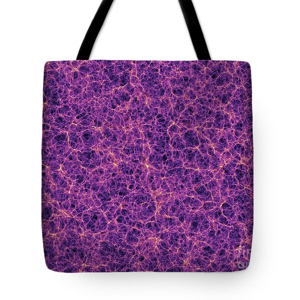 Dark Matter Distribution Tote Bag by Volker Springel and SPL and Photo Researchers