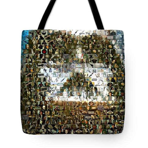 Darth Vader Mosaic Tote Bag by Paul Van Scott