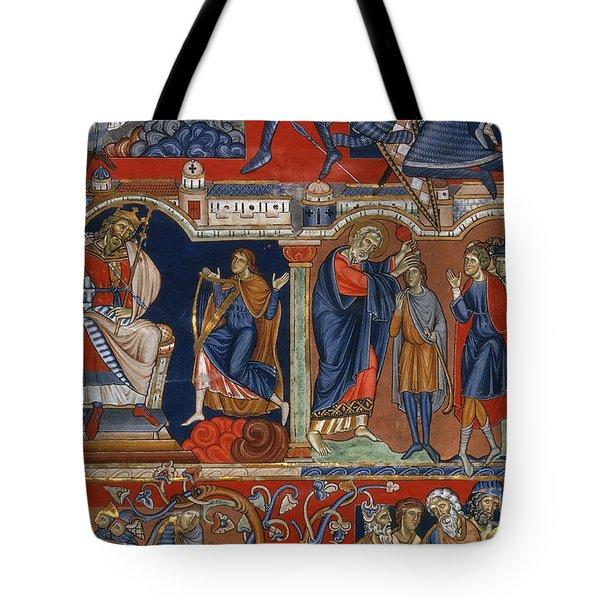 David And Saul Tote Bag by Granger