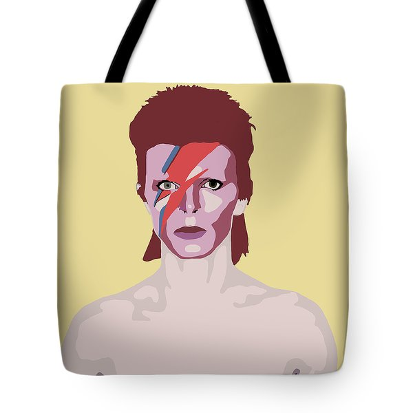 David Bowie Tote Bag by Nicole Wilson