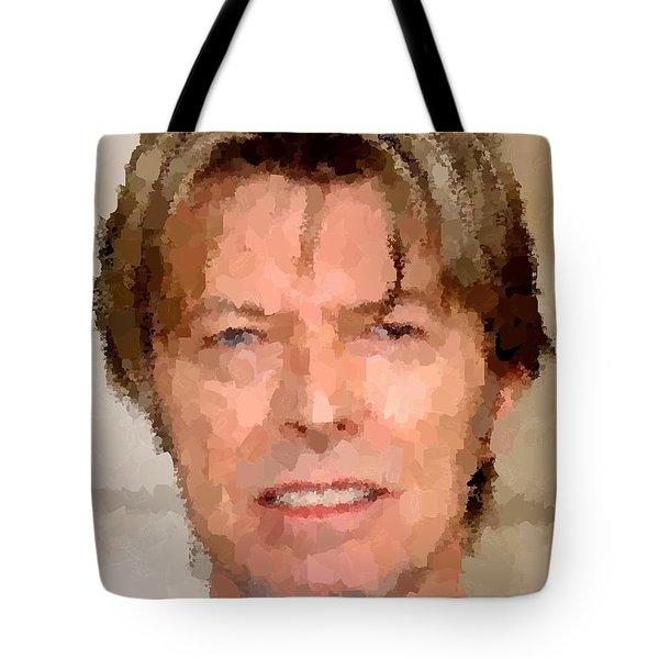 David Bowie Portrait Tote Bag by Samuel Majcen