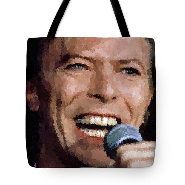 David Bowie Tote Bag by Samuel Majcen