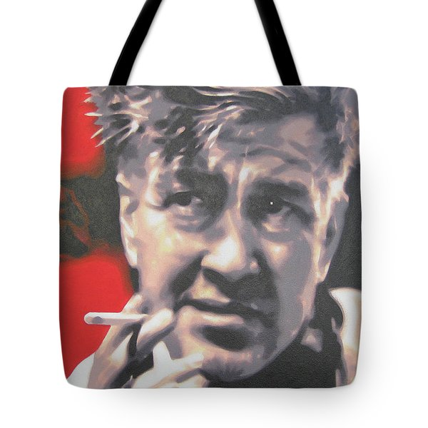 David Lynch Tote Bag by Luis Ludzska