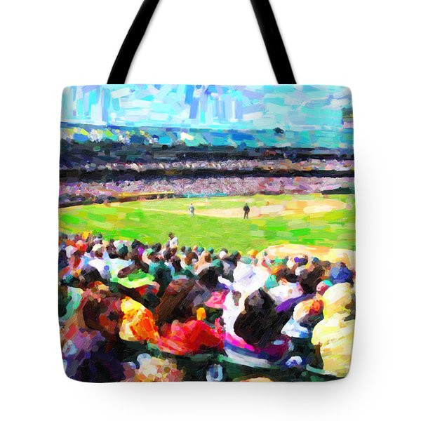 Day Game At The Old Ballpark Tote Bag by Wingsdomain Art and Photography