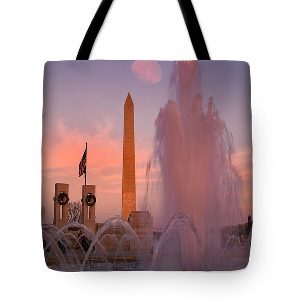 Dc Sunset Tote Bag by Betsy Knapp