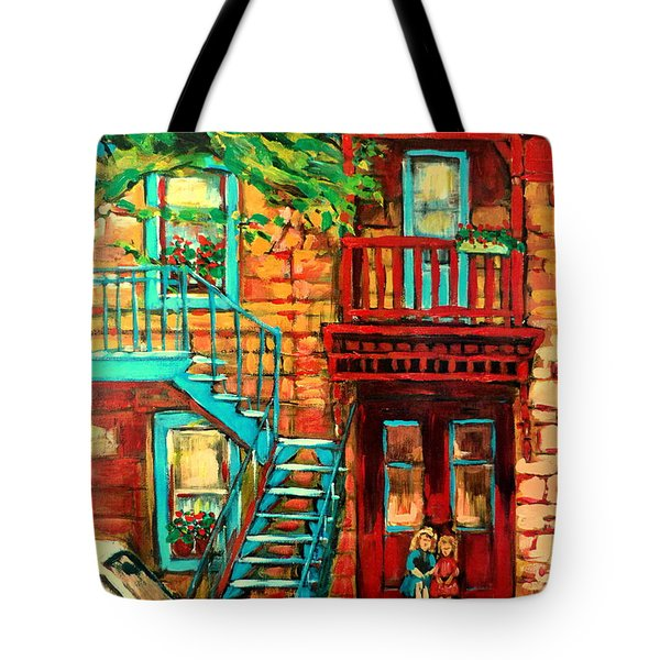 De Bullion Street Girls Tote Bag by Carole Spandau