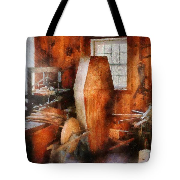 Death - The Coffin Maker Tote Bag by Mike Savad
