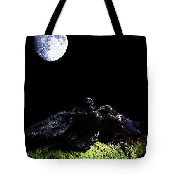 Death of a Young Raven Tote Bag by Wingsdomain Art and Photography