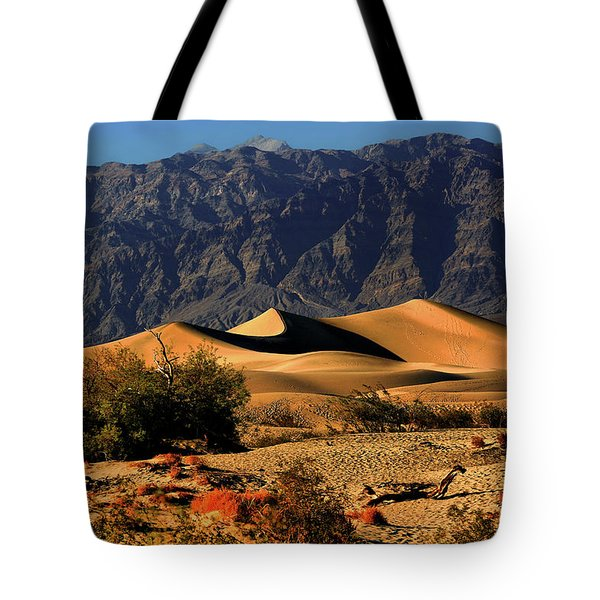 Death Valley's Mesquite Flat Sand Dunes Tote Bag by Christine Till