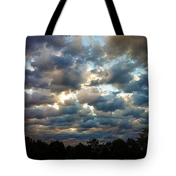 Deceptive Clouds Tote Bag by Cricket Hackmann