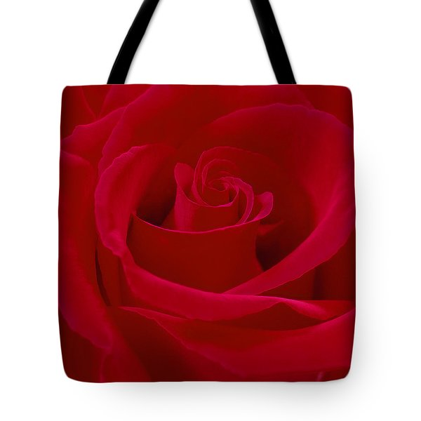 Deep Red Rose Tote Bag by Mike McGlothlen