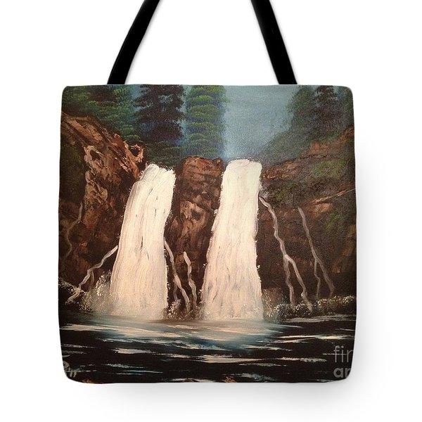 Deep Woods Waterfall Tote Bag by Tim Blankenship