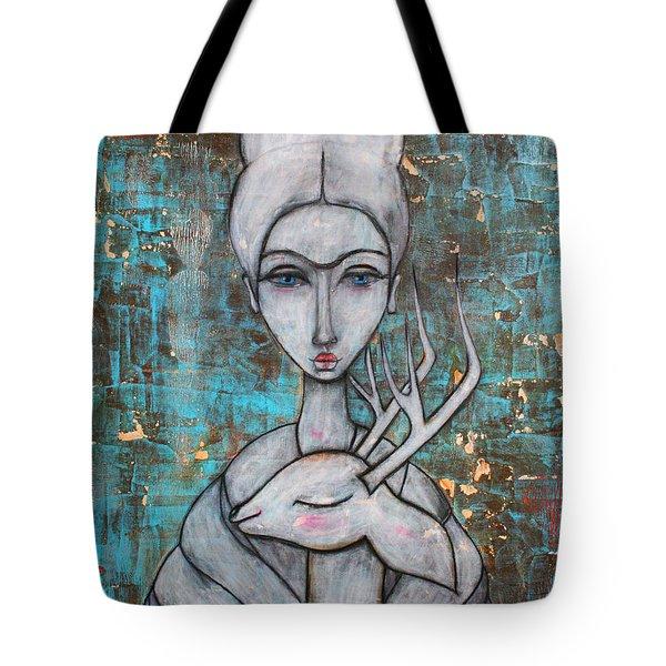 Deer Frida Tote Bag by Natalie Briney